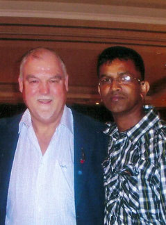 Ex-England international Mike Gatting & Swiss Cricket's Sudath Jayarathne