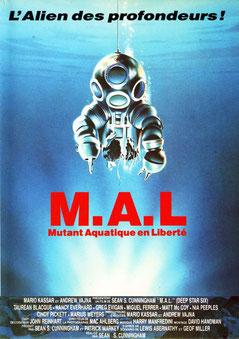M.A.L. : Mutant Aquatique En Liberté de Sean S. Cunningham - 1989 / Science-Fiction - Horreur