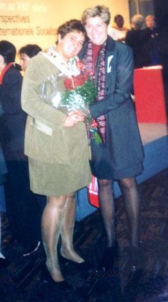 Bild: Foto: EP , Paris, SIW Kongress, Lissy Gröner, Zita Gurmai
