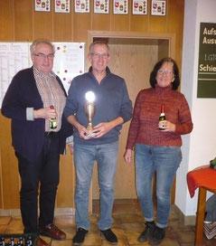 v.l. Herbert Meier, Dieter Wuttke, Elke Welge
