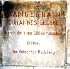 Gelbke-Hain Radeberg, Gedenktafel 1946