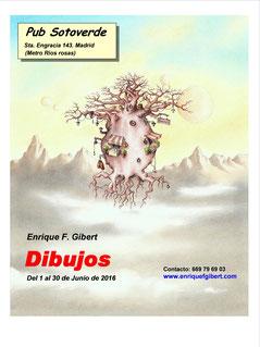 cartel exposición, carteles exposición, exposiciones de dibujo, Pub Sotoverde