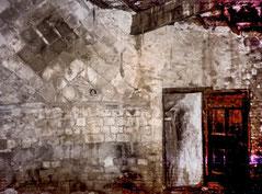 La voûte de la chapelle avant la rénovation
