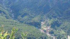 松尾峠から見る。