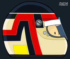 Helmet of Aguri Suzuki by Muneta & Cerracín