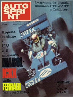 Jackie Stewat con su Tyrrell - Ford Cosworth en AUTOSPRINT