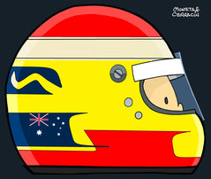 Helmet of Ryan Briscoe by Muneta & Cerracín