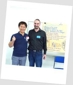 リチャード・ボルスタッド博士と(RESOLVEトレーニングにて:2010)