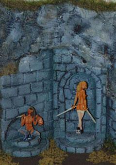Dämoninen  Bemalt von Dieter Rohr Regen