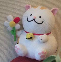 花猫っちのぬいぐるみの写真