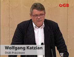 Wolfgang Katzian legt sein NR-Mandat zurück und warnt Regierung davor, ihre sozial unfaire und Arbeitnehmerfeindliche Politik weiter fortzusetzen   Foto: Screenshot Videoaufzeichnung seiner Rede im NR/FB-ÖGB