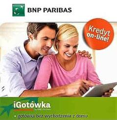 Kredyt gotówkowy online iGotówka BNP Paribas