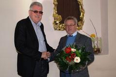 Von links: Bernd Pottohoff, Vorsitzender des Radsportbezikes OWL und Jürgen Finke, ehemaliger RTF Fachwart für den Bezirk OWL