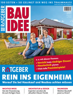 Der BAUIDEE-Ratgeber umfasst 100 Seiten prall gefüllt mit allen wichtigen Informationen rund um die Themen Hausbau und Hauskauf.