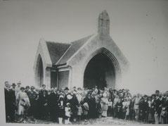 Kapelle während der Einweihung