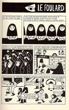 """Extrait du livre """"Persepolis"""" de M. Satrapi (DR)"""