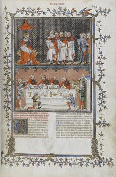 L' Ordre de l'Étoile - Grandes Chroniques de France - f. 394r