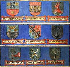 Bürgerliche Wappen aus dem Jahr 1598;in Verden / Aller, Niedersachsen