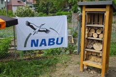 NABU-Meile am Radweg nach Dielheim, Wildbienenhotel, Foto: A. Treffer