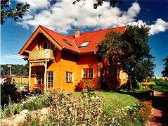Das Holzhaus bei Fertigstellung 1996