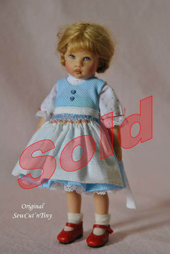 60.00 USD: Dirndl Dress, smocked Apron and Underdress