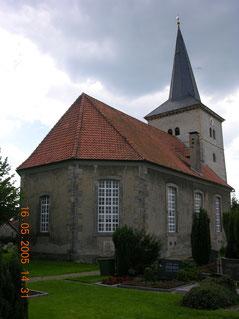 Kirche in Wülfingen mit der Familiengruft der Familie Bock von Wülfingen