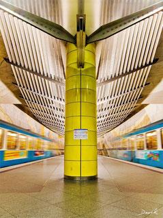 U-Bahnhof Großhadern München HDR Fotomontage