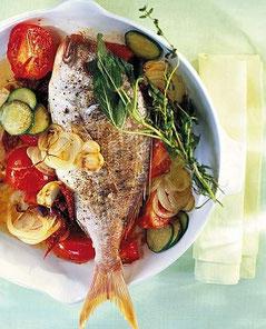 Ricetta Orata al forno con verdure