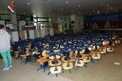 Ein Teil der rund 500 Stühle