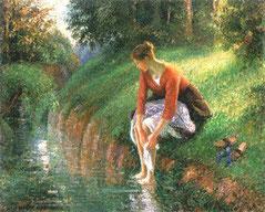 Bain de Pieds Camille Pissarro