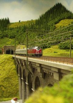 Modelo del ferrocarril de la selva negra en Hausach
