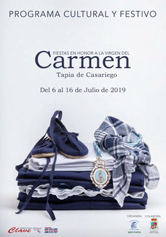 Cartel y programa de las Fiestas del Carmen en Tapia de Casariego
