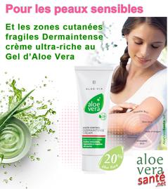 Dermaintense, Une crème innovante pour aider la peau sensible. Aloe Vera Santé avec LR Health & Beauty LR aloe via