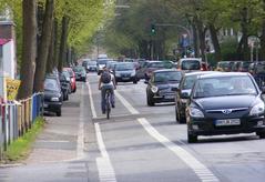 Fahrradweg am Hammer Steindamm