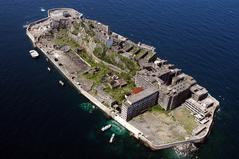 """長崎景観クルス""""軍艦島""""パッケージで使用中の写真です。"""