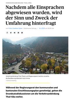 Solothurner Zeitung vom 8. April 2020