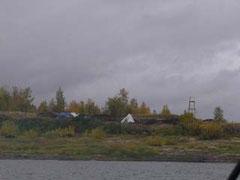 Вид на Мангазею с реки Таз