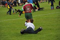 la violence est jouée dans le sport... photo F. Roth