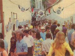 Vilnius. Liaudies meistrų paroda Pilies skg. Nuotr. D. Mackonio. 1976m./ An art exhibition by folk artists in Pilies Lane. 1976. Photo by D Mackonis