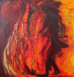 Feuertanz -  Acryl und Öl auf Leinwand