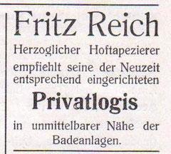 Anzeige von 1914