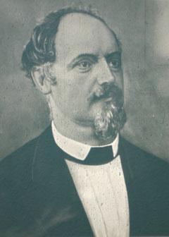 Johann Gottfried Linsser, 1823 - 1889, erster Postverwalter in Liebenstein. - Archiv W.Malek