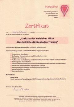 Zertifikat Beckenboden-Training
