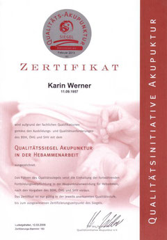 Zertifikat Akupunktur