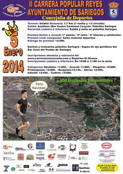 II CARRERA REYES AYTO SARIEGOS 05-01-2014
