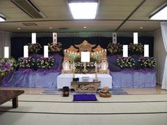 朝霞市市民葬儀 3段祭壇