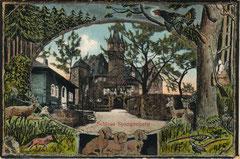 Schloss Spangenberg auf einer Postkarte Anfang des 20. Jahrhunderts