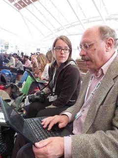Helene mit Dr. Horst Korn vom Bundesamt für Naturschutz