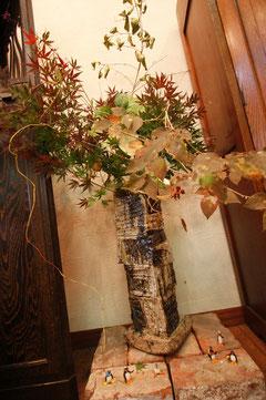 彩釉花器バベル