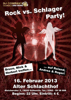 Rock vs Schlager Party DJ Company and more